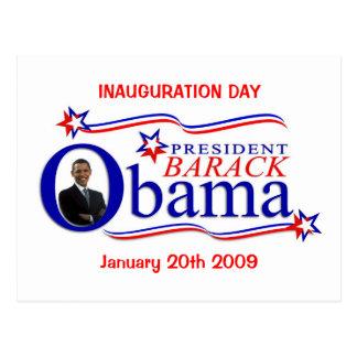 Obama-Einweihungs-Tagesfeier-Postkarte Postkarte