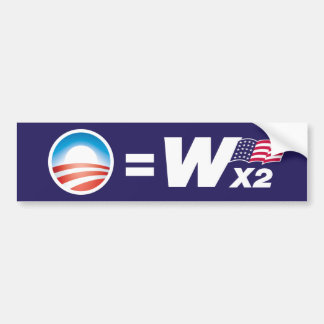 Obama entspricht Bush-Autoaufkleber Autoaufkleber