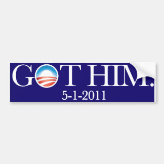 Obama erhielt Osama. Bin Laden wird getötet. IHN E Autoaufkleber