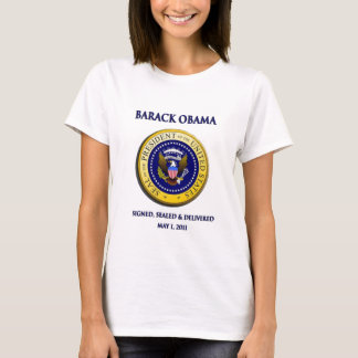Obama erhielt versiegeltes u. geliefertes Osama T-Shirt