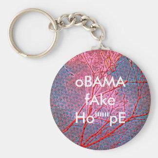 OBAMA-Fake Hoffnung Standard Runder Schlüsselanhänger