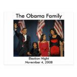 Obama-Familien-Wahl-Nacht Postkarten