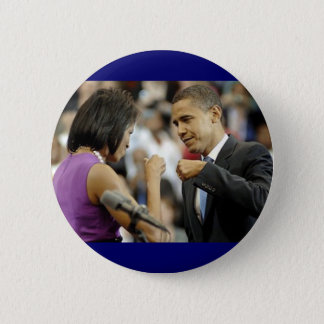 Obama-Faust-Pumpen-Knopf Runder Button 5,1 Cm