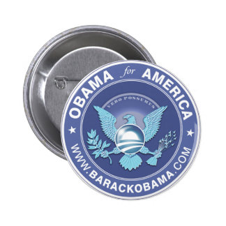Obama für Amerika-Logo Runder Button 5,1 Cm