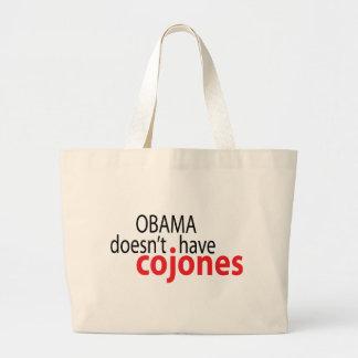Obama hat nicht Cojones Jumbo Stoffbeutel