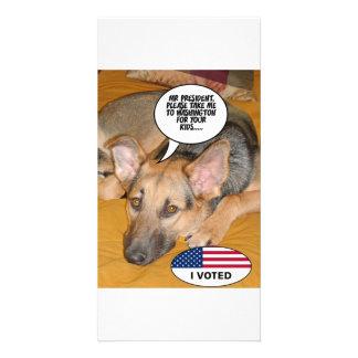 Obama-Haustier/Whitehouse Spaß Karte