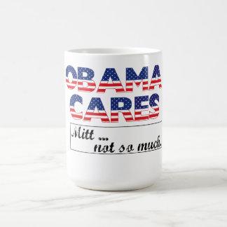 Obama interessiert sich, Mitt-… nicht soviel Kaffeetasse