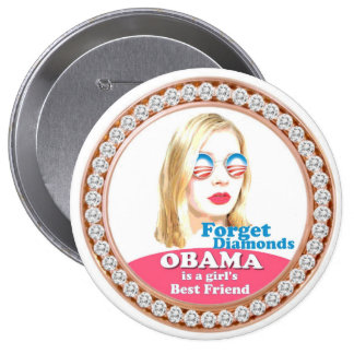 Obama ist der beste Freund eines Mädchens Runder Button 10,2 Cm