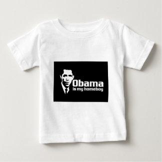 Obama ist mein Homeboydunkelheits-Shirt Baby T-shirt