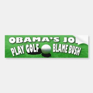 Obama-Job Autoaufkleber