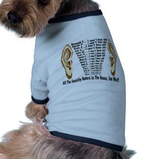 Obama kann Hasser nicht hören Hund Tshirts