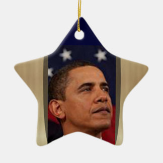 Obama Keramik Stern-Ornament