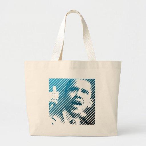 Obama-Lächeln Leinentasche