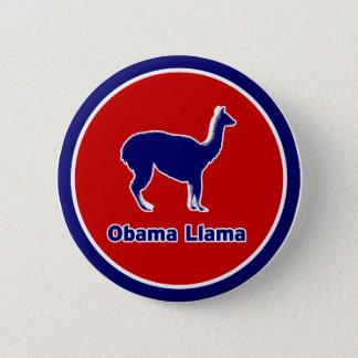 Obama-Lama-blauer Kontur-Knopf Runder Button 5,1 Cm
