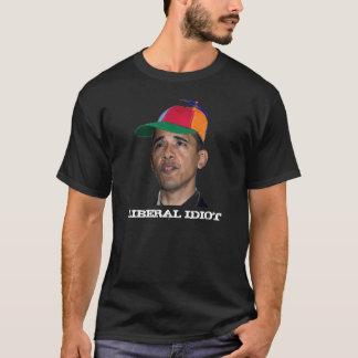 Obama, LIBERALES IDIOTschwarzes T-Shirt