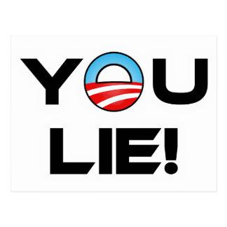 Obama liegen Sie Postkarte