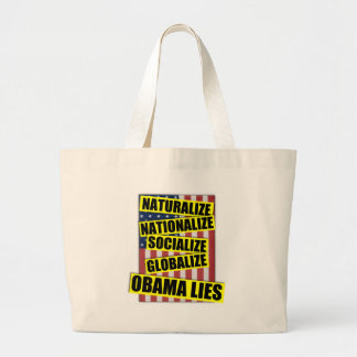 Obama-Lügen Jumbo Stoffbeutel