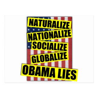 Obama-Lügen Postkarte
