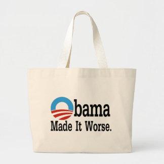 Obama machte es schlechter tragetaschen