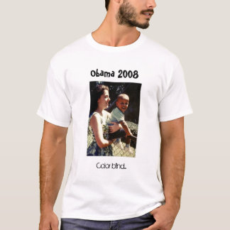 Obama mit seiner Mutter, färben blind…, Obama 2008 T-Shirt