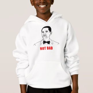Obama nicht schlechtes meme Raserei-Gesichts-Comic Hoodie