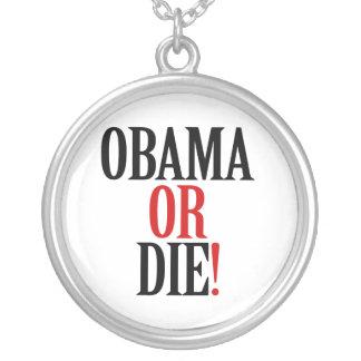 Obama oder die halskette mit rundem anhänger