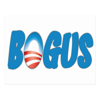 Obama: Schein Postkarte