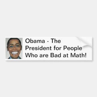 Obama - Schlechtes an Mathe Autoaufkleber
