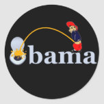 Obama (Toilette) Runder Aufkleber