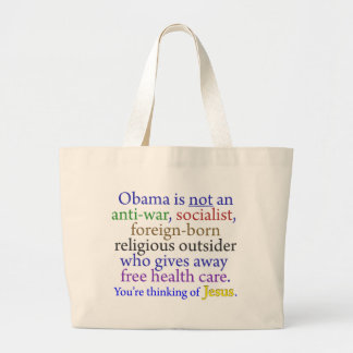 Obama u. Jesus Jumbo Stoffbeutel