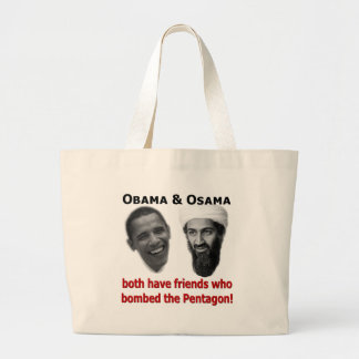 Obama u. Osama Jumbo Stoffbeutel