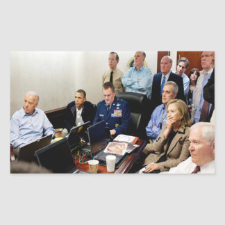 Obama und Biden erwarten Aktualisierungen auf bin- Rechteckiger Aufkleber