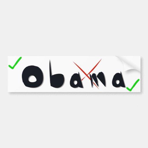 Obama-Unterstützung - Kreuz und Ticken Autoaufkleber