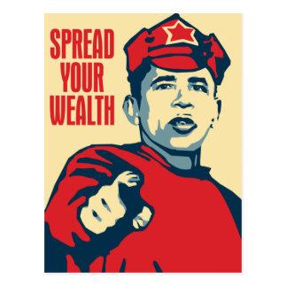 Obama - verbreiten Sie Ihren Reichtum herum: OHP Postkarte