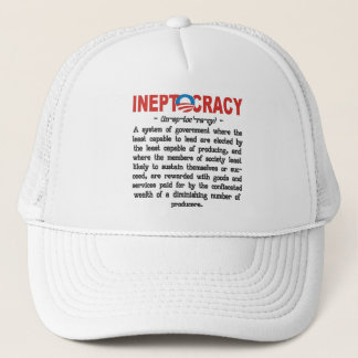 Obama-Verwaltung Ineptocracy T - Shirts u. Hüte Truckerkappe