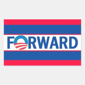 Obama VORWÄRTS Rechteckige Sticker