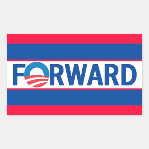 Obama VORWÄRTS Rechtecksticker