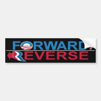 Obama Vorwärts - Romney RückAutoaufkleber Autoaufkleber