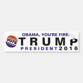 Obama, werden Sie gefeuert! Politischer Autoaufkleber