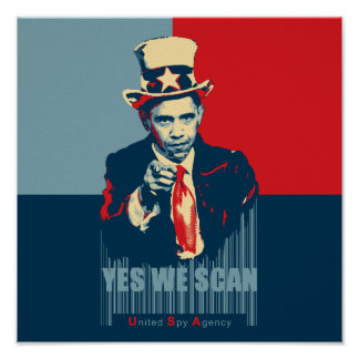 Obama Yes We Scan Poster