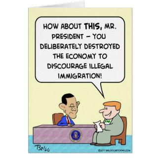 Obama zerstören Wirtschafts-illegale Einwanderung Karte