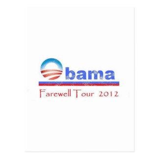 Obamaabschiedsausflug 2012 postkarte