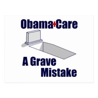 ObamaCare: Ein ernster Fehler Postkarte