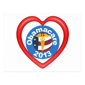 Obamacare Herz Postkarte