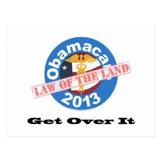 Obamacare nationale Gesetzgebung Postkarte