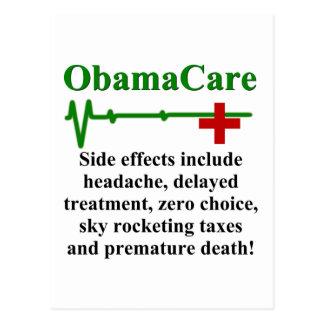 ObamaCare Nebenwirkungen Postkarte