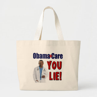 """ObamaCare: """"Sie Lüge! """" Jumbo Stoffbeutel"""