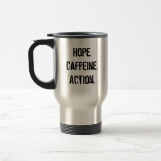 OBAMAJAVA, Hope.Caffeine.Action. Reisebecher