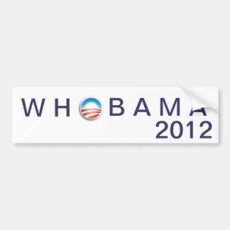 ObamaLogo [1],           W H      , B A.M.A, 2012 Autoaufkleber
