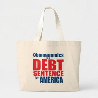 Obamanomics - Schulden-Satz Jumbo Stoffbeutel